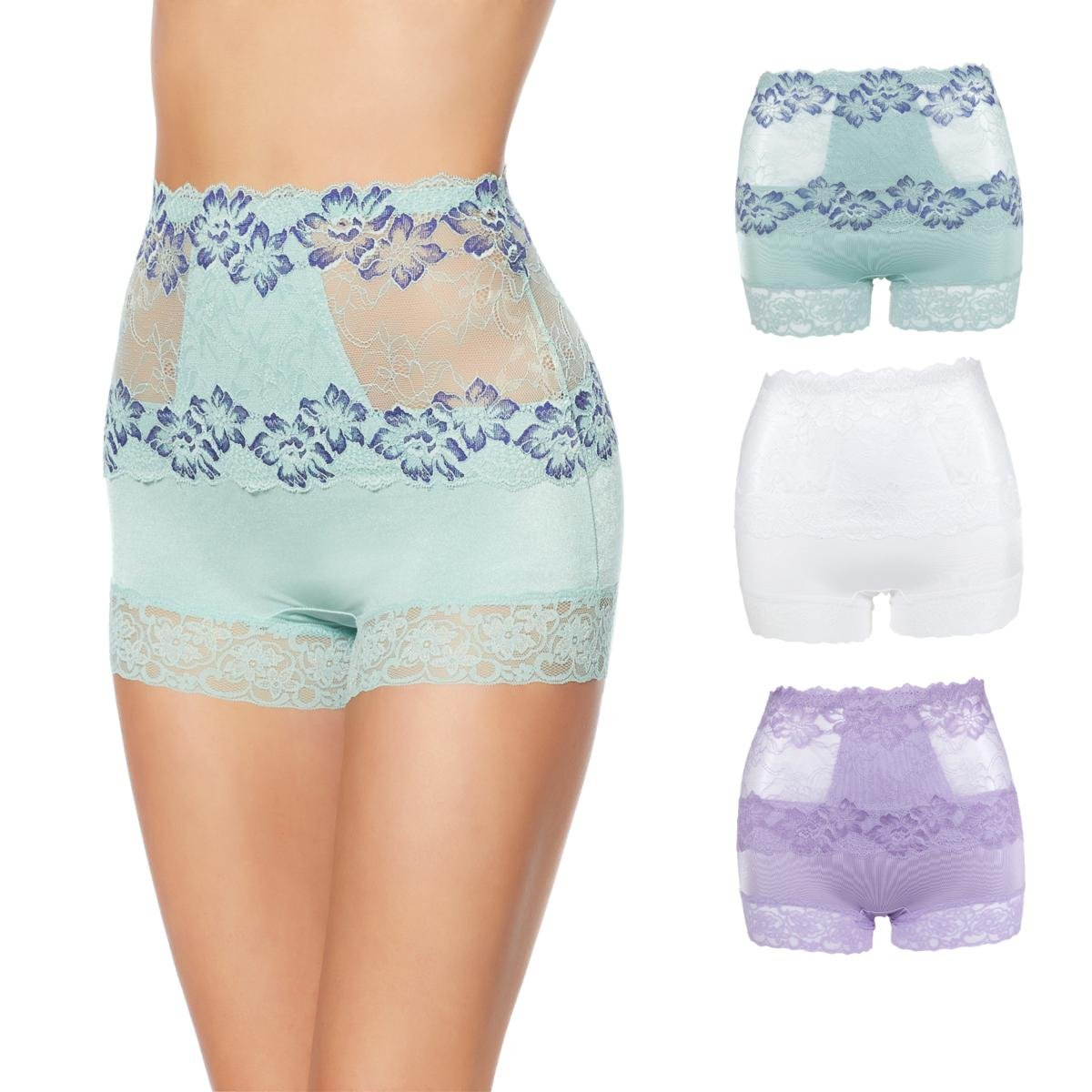 Ahh By Rhonda Shear 3-Pack Pin up Lace Panties