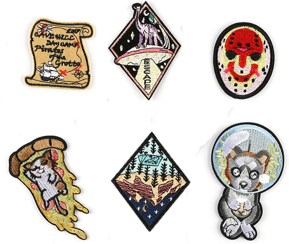 Badge Patch Pirate Badge Patch DIY Craft Clothes Heat-Seal Embroidered