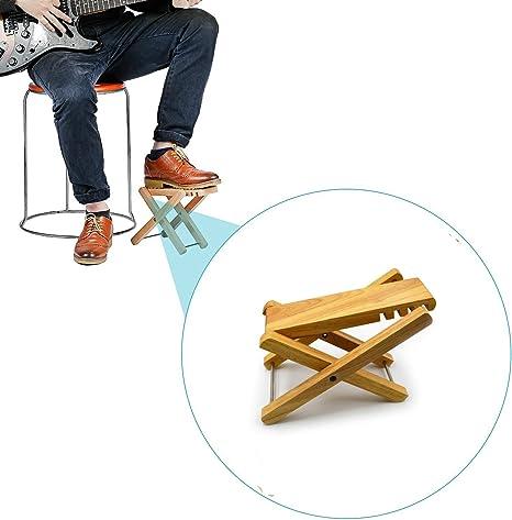 zepthus® Solid reposapiés para guitarra Pie Resto con 4 posiciones ...