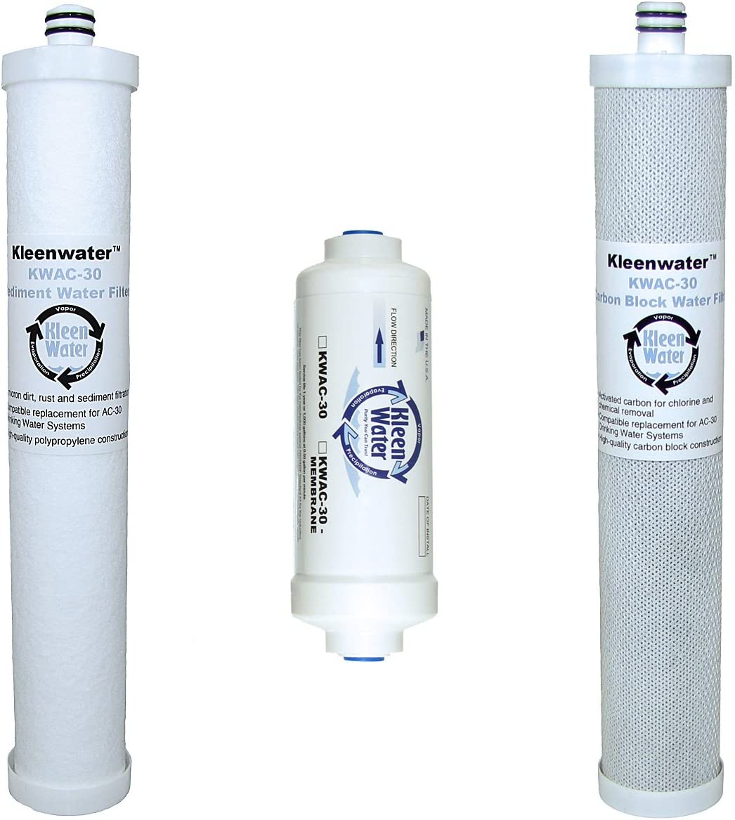 3 Pack White Hydronix HX-HDG-SED-AC5//3 Sediment Water Filter For Culligan AC30 AC15 Systems 5 Micron