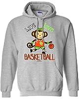 Sports Katz Womens 'Live Love' BASKETBALL Hoodie