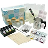 Complete DIY Candle Making Supplies - Full Beginners Soy Candle Making kit Including Soybean Wax, Dyes, Wicks, Pot, Tins…