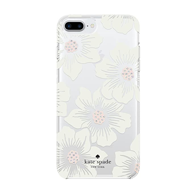 online store 1bbc6 d77fc Incipio Apple iPhone 6 Plus/6S Plus/7 Plus/8 Plus Kate Spade Hard-Shell  Case - Hollyhock Floral Clear/Cream with Stones