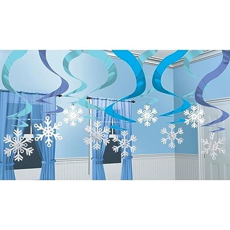 Copos De Nieve Para Decorar Fiesta Frozen.15 X Estacada Nieve Y Hielo Frio Azul Hielo Nieve Tiras De