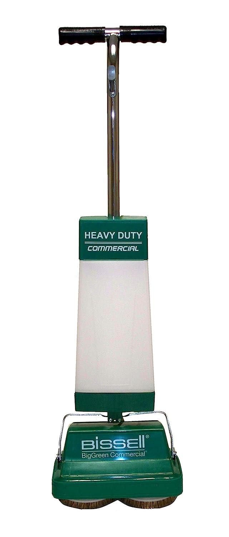 "BISSELL BigGreen BGFS5000 Portable Two Brush Floor Scrubber & Polisher, Polypropylene, 13"" Large x 7"" W x 44"" H, White & Green"