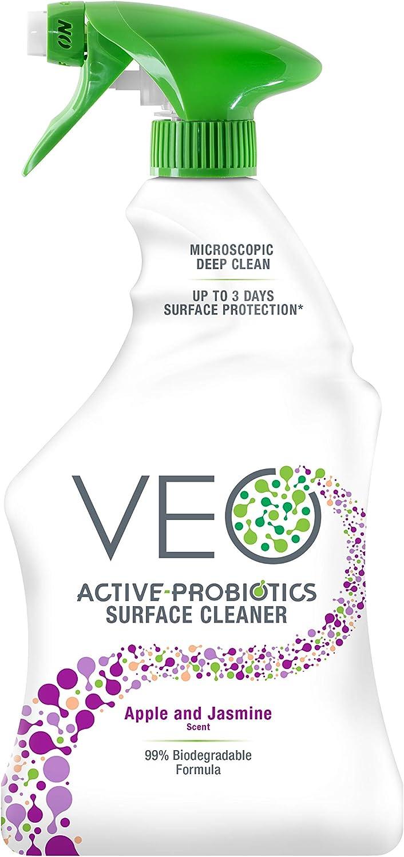 VEO Active-Probiotics All Purpose Cleaner Spray 22 Oz, Apple & Jasmine Scent, MultiSurface Cleaner, Multipurpose Cleaner