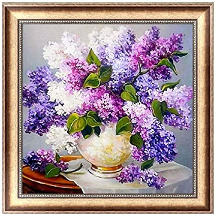 WinnerEco Charming Flowers 5D Diamond DIY Painting Embroidery Paint Cross Stitch Craft Home Decor