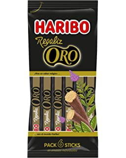 Haribo Regaliz Oro Multipack Dulces de Regaliz - 108 gr: Amazon.es ...