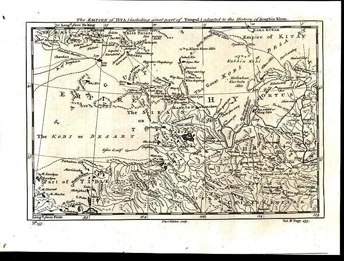 Central China North Tibet Gobi Desert Tartar Territory 1747 ...