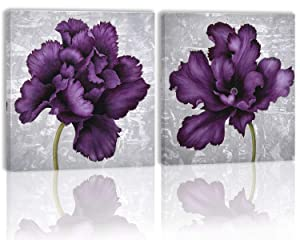 Purple Flower Wall Art Decor Canvas Painting Kitchen Prints Pictures for Home Living Dining Room