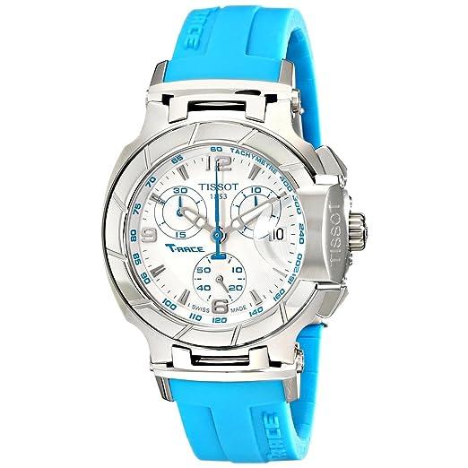 Reloj mujer Tissot t0482171701702 T-RACE T-RACE analógico cronógrafo blanco y Blu: Amazon.es: Relojes