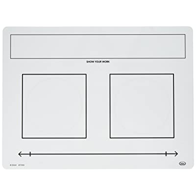 Didax Educational Resources, 10-Board Set Write-On/Wipe-Off Fraction Mats, White, Black: Arts, Crafts & Sewing