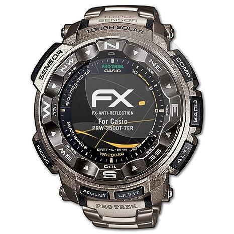 atFoliX Película Protectora para Casio PRW-2500T-7ER Lámina ...