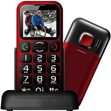 Mobiho-Essentiel le Classic Sympa Teléfono inalámbrico, liberado, fácil uso, con teclas grandes, botón de llamada de emergencia SOS, cifras de gran tamaño ...
