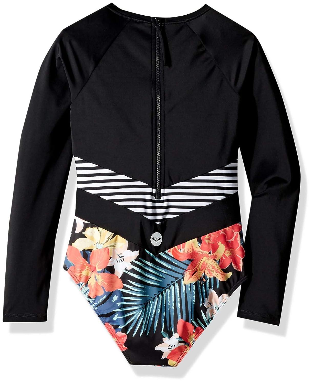 c6007c60968f7 Amazon.com  Roxy Big Girls  Island Trip Long Sleeve Onesie Swimsuit   Clothing