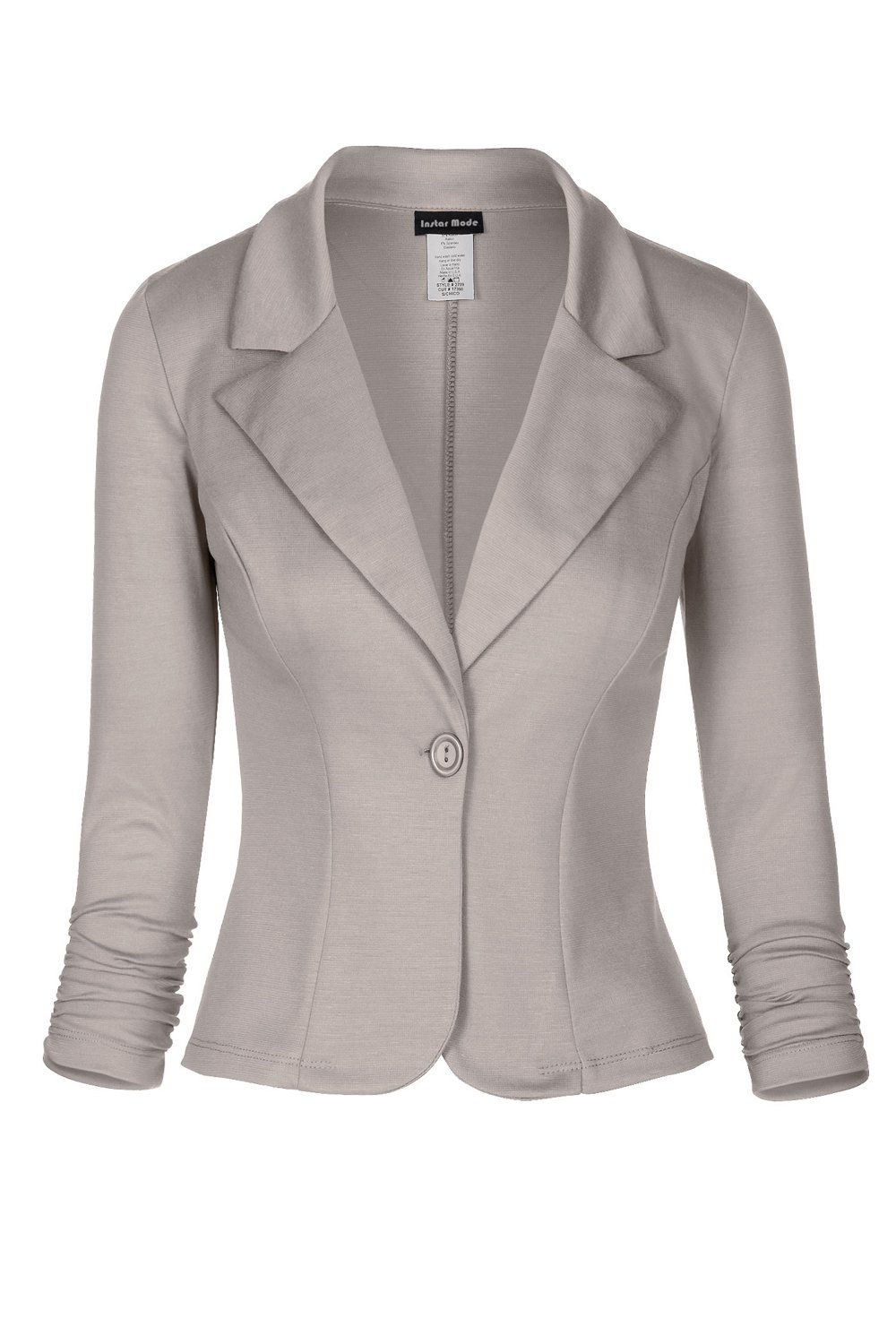 Instar Mode Women's Versatile Business Attire Blazers in Varies Styles (B028214 Heather Grey, Large)