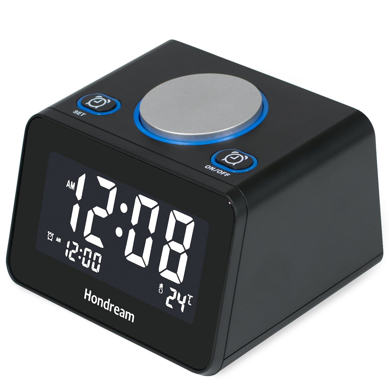 Hondream Digital Alarm Clock Radio with FM radio Snooze for Bedrooms H-03 USB Charger Dimmer