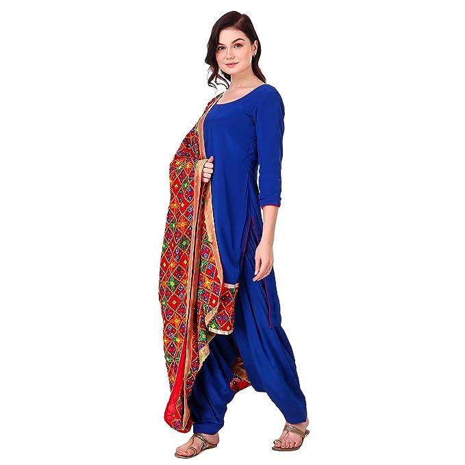 4510fbef0d Nivetas Design Studio Punjabi palatial salwar suit with embroidery ghera  and dupatta: Amazon.in: Clothing & Accessories