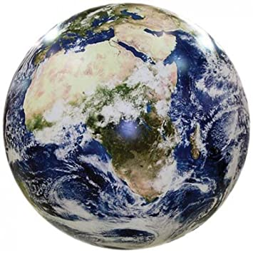 Amazoncom Earthball Inflatable Earth Globe From Satellite - World from satellite