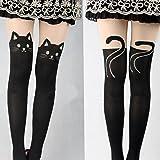Kitten Print Socks CAT Tail Tattoo Tights Pantyhose Stockings Underwear by Generic