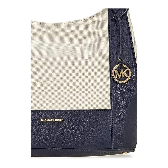 7a1355746c77b9 MICHAEL Michael Kors Women's Marlon Shoulder Bag, Natural/Admiral, One  Size: Handbags: Amazon.com