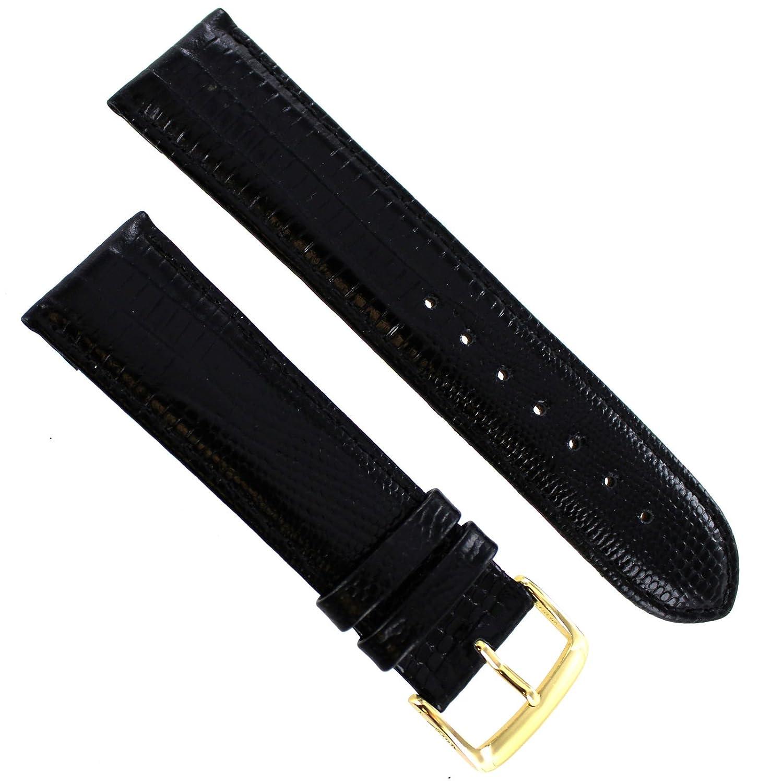 20 mm Speidelブラックパッド入りGator GenuineレザーMens Watch Band Regular 923 730  B07C3KWSNQ