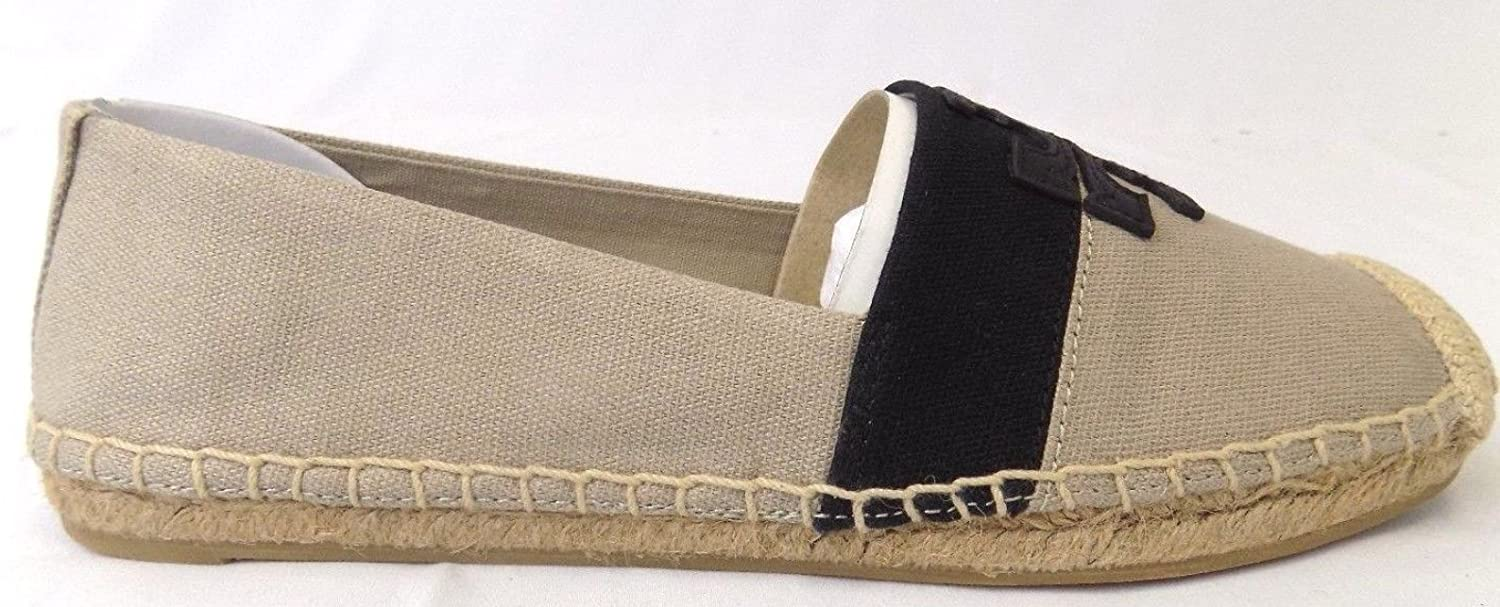 aba1a3bfe69 Amazon.com  Tory Burch Weston Flat Espadrille Shoes Natural Black 7.5  Home    Kitchen