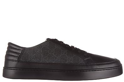 8f5fab3391d3d Gucci Herrenschuhe Herren Leder Schuhe Sneakers gg supreme Schwarz ...