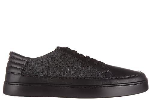 Gucci zapatos zapatillas de deporte hombres en piel nuevo gg supreme negro EU 43 433716 A9LN0 1084: Amazon.es: Zapatos y complementos