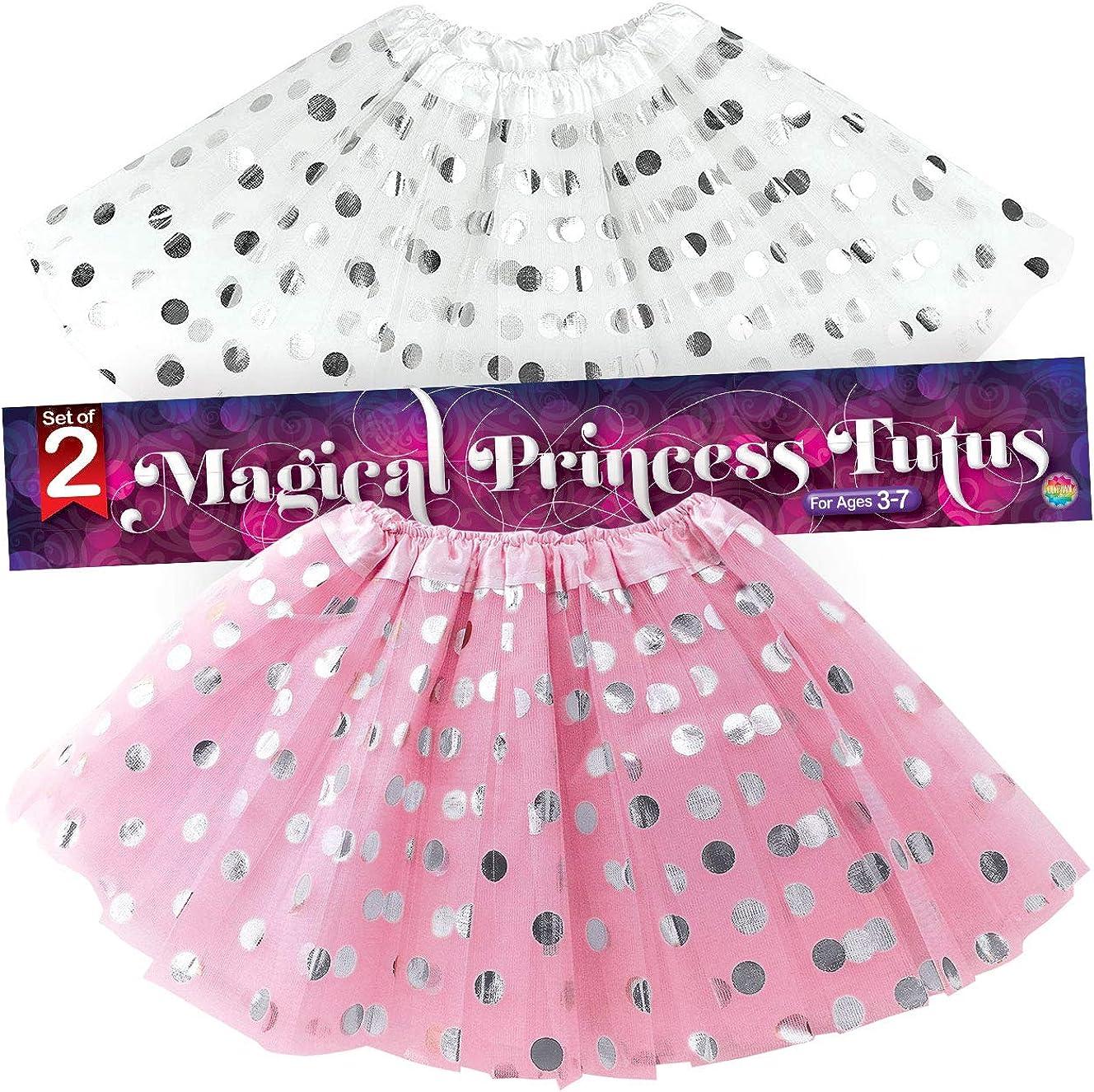 ZEZKT Falda tut/ú Estampado Lunares Princesa tut/ú Falda para 2-8 a/ños beb/é ni/ña Enagua de Tutu de Tul de Baile de Carnaval Fiesta cumplea/ños