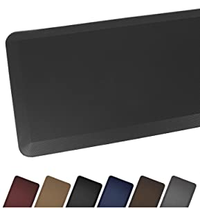 "Sky Mat, Comfort Anti Fatigue Mat, Perfect for Kitchens and Standing Desks, 7 Colors, 3 sizes, 20 x 32 x 3/4"", Black"