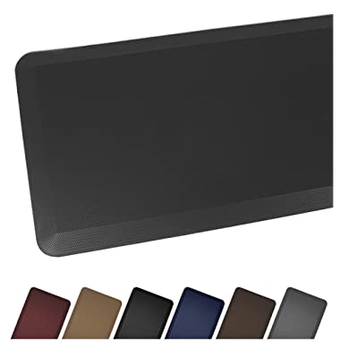 Sky Mat, Comfort Anti Fatigue Mat, Perfect for Kitchens and Standing Desks, 7 Colors, 3 sizes, 20 x 32 x 3/4 , Black