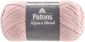 Patons Alpaca Blend Yarn - (5) Bulky Gauge - 3.5oz - Peony - Machine Washable For Crochet, Knitting & Crafting
