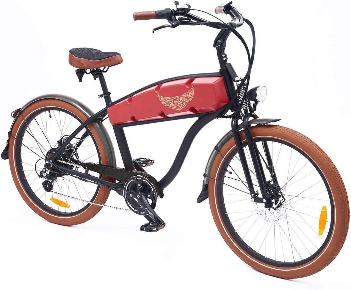 Ariel Rider Frenos de Disco hidráulico Electric Cruiser Bike de 750 W con Gran Estilo y Gama de Bicicletas eléctricas Muy rápidos: Amazon.es: Deportes y aire libre