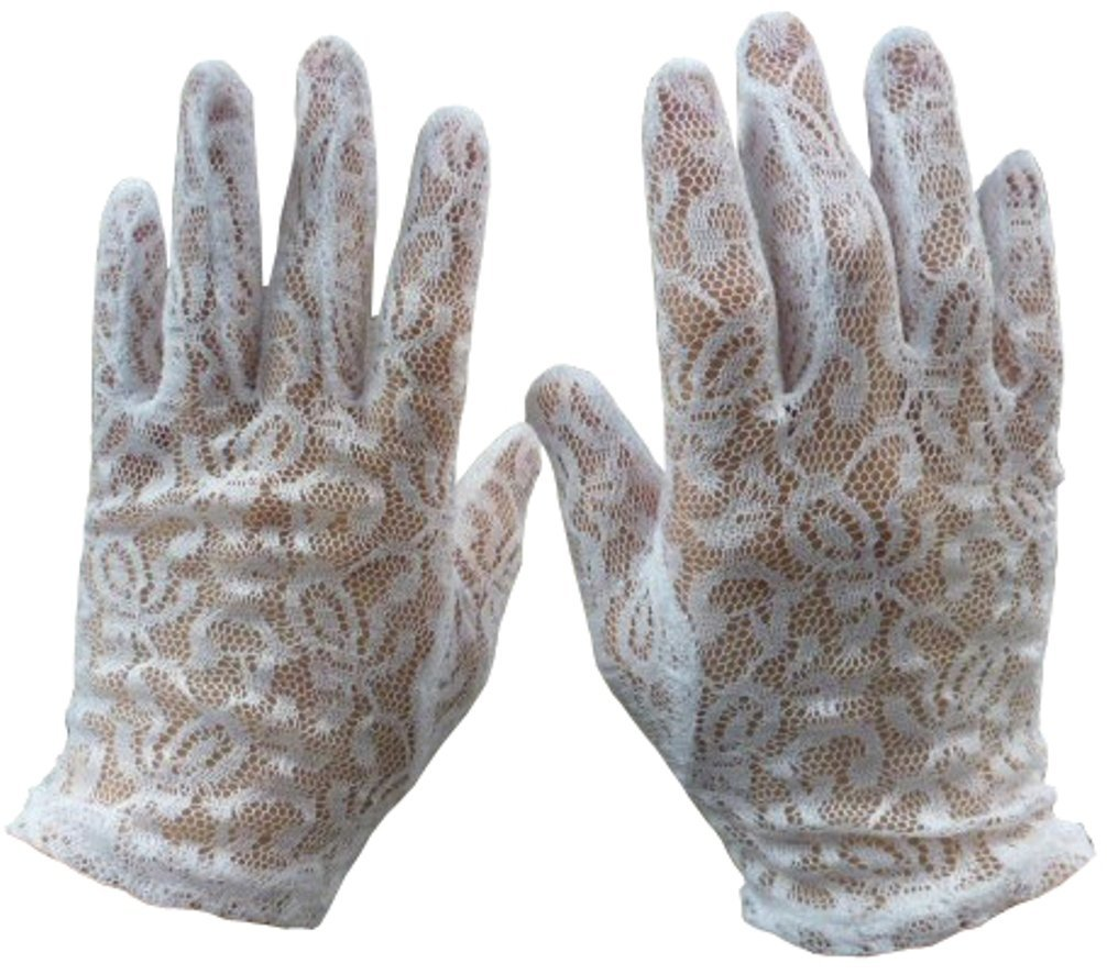 N'Ice Caps Girls Special Occasion Lace Gloves 302