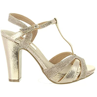 Xti 30610 Gold - Chaussures Sandale Femme