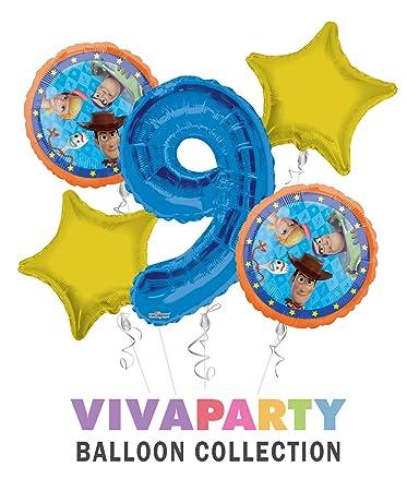 Amazon.com: Toy Story 4 globos de feliz cumpleaños ramo 5 ...
