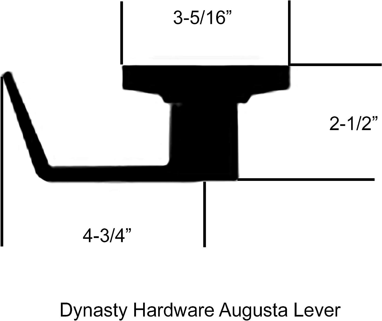 Dynasty Hardware AUG-00-26D Grade 2 Commercial Duty Office Door Keyed Lever Lockset Satin Chrome Finish ADA
