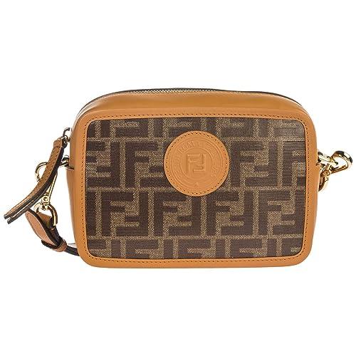 41515f990e Fendi borsa a tracolla donna marrone: Amazon.it: Scarpe e borse