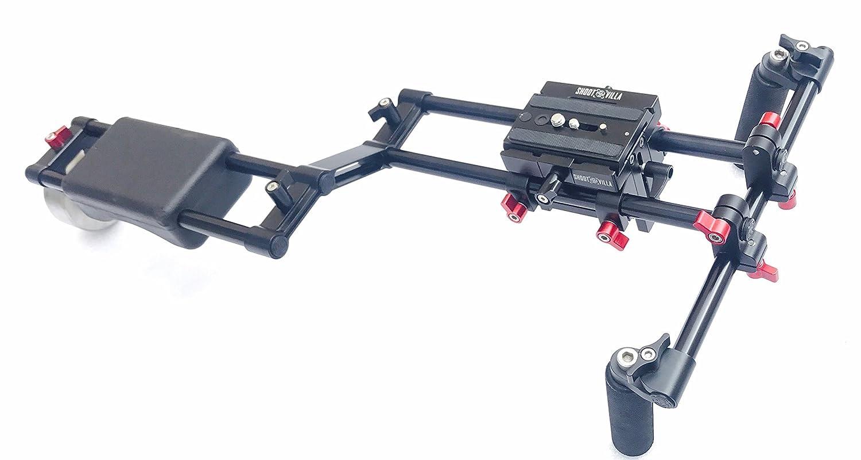 shootvilla DSLRカメラリグショルダーマウントサポートスタビライザーキット高さライザーQR   B0721SG9GN