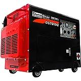 DuroStar DS7000Q Portable Diesel Generator, Black/Red