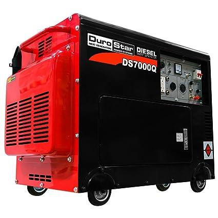 diesel generator. DuroStar DS7000Q Portable Diesel Generator, Black/Red Generator