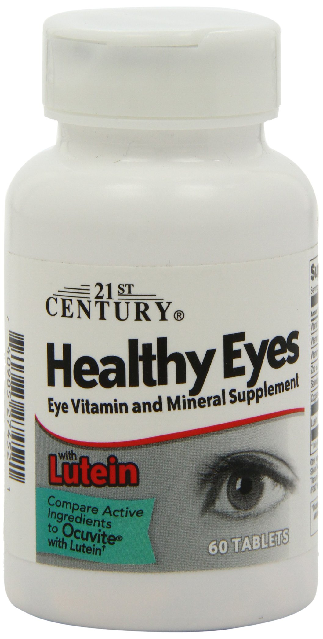 21st Century Healthy Eyes with Lutein Tablets, 60 Count by 21st Century (Image #1)