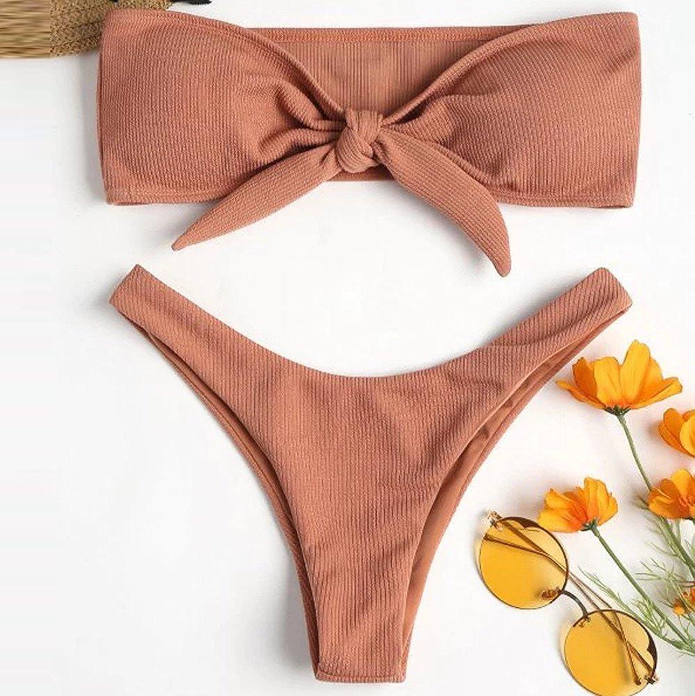 _Traje de baño Mujer, Bikini Mujer Conjuntos 2019 Push Up ...