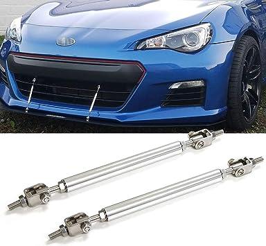 "2* 5.9/"" Universal Adjustable Front Bumper Lip Splitter Strut Rod Tie Support Bar"