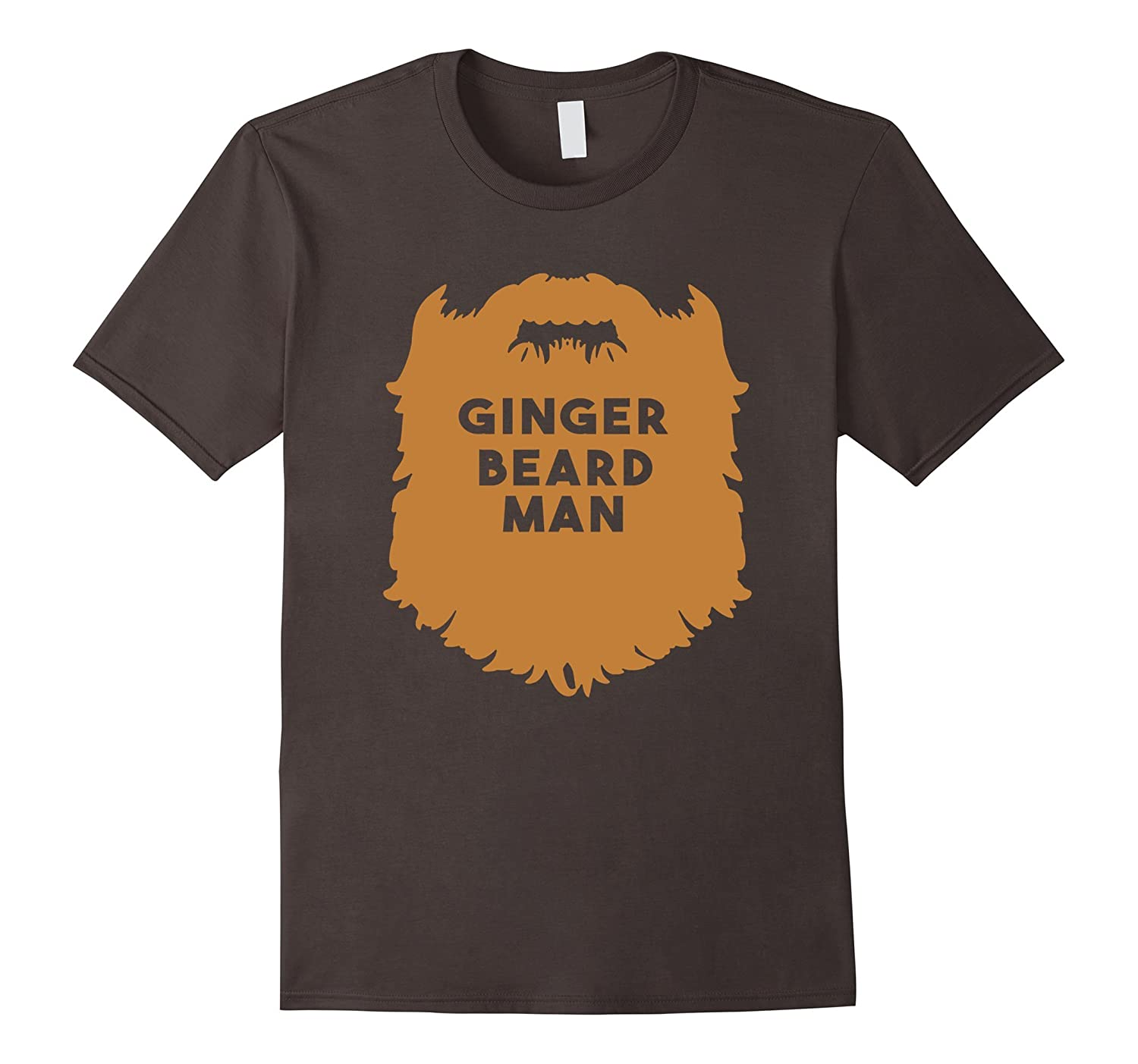 Mens Beard Man Shirt - Ginger Beard Man-TD