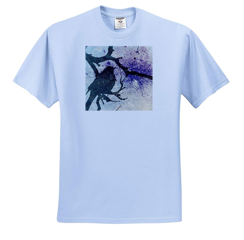 T-Shirts 3dRose Cassie Peters Birds Grackle Grunge Digital Art