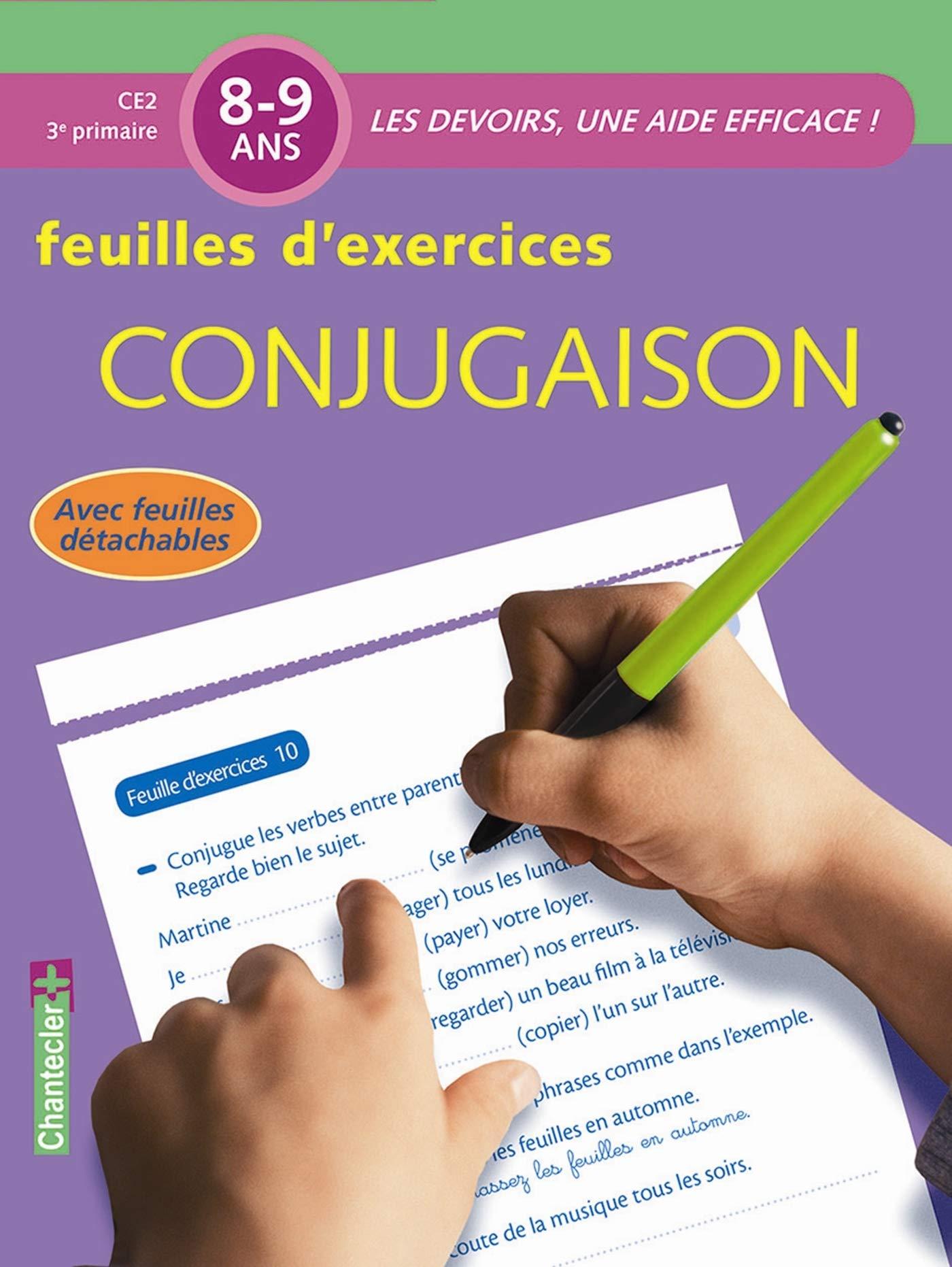 Amazon Co Jp Les Devoirs Feuilles D Ex Conjugaison 8 9 Ans Ɯ¬