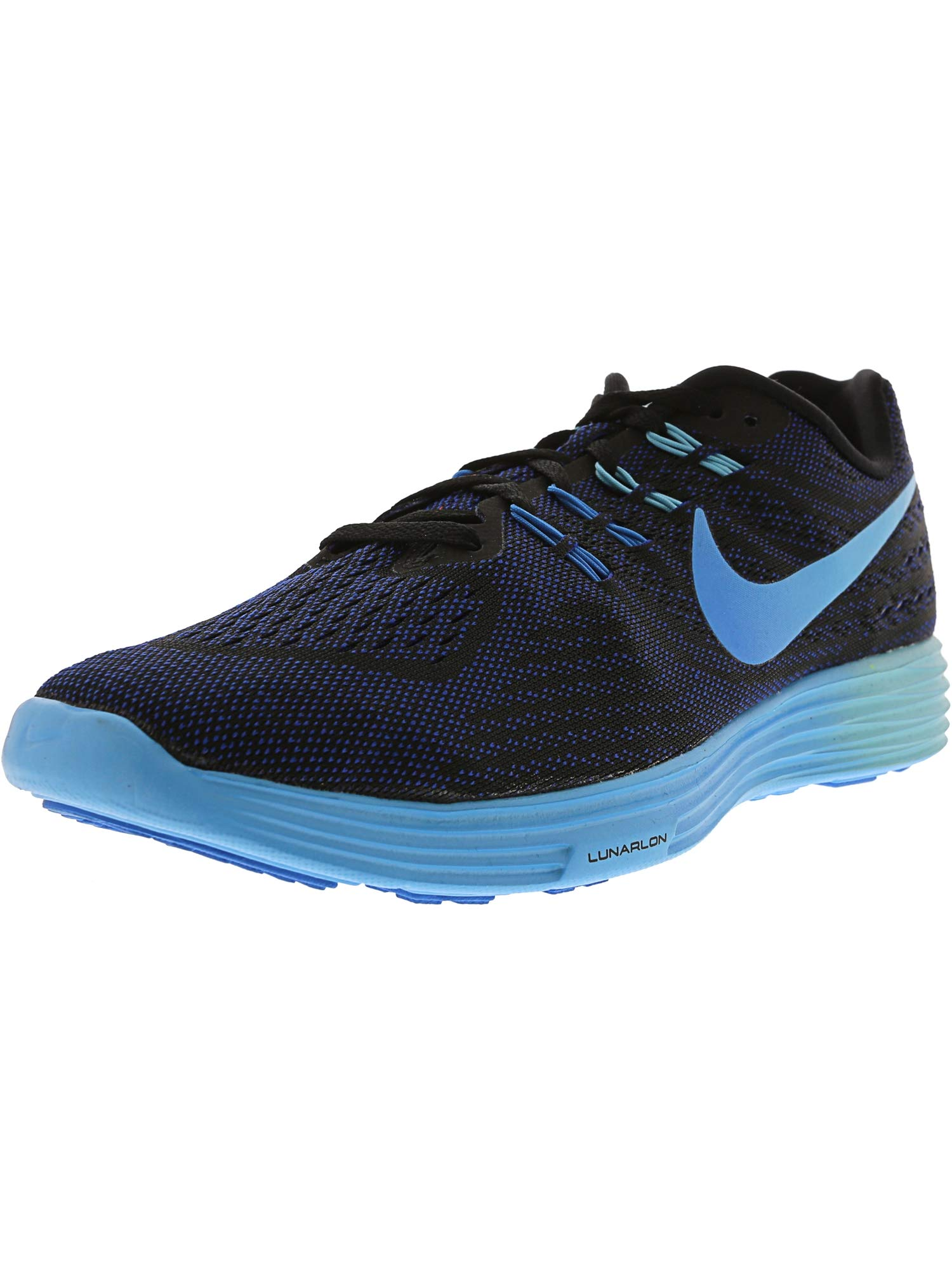 ca8f3936141a4 Galleon - Nike Women s Lunartempo 2 Black Blue Glow Deep Royal - Ankle-High Running  Shoe 12M