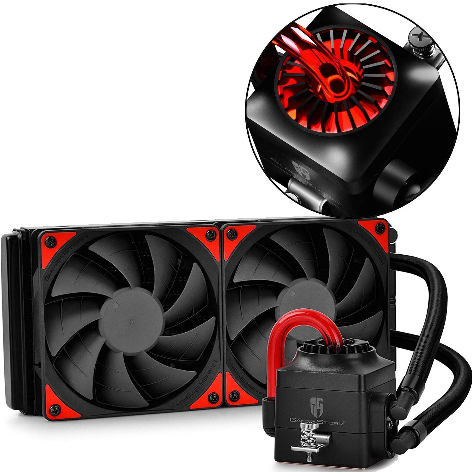 Deepcool Gamer Storm Captain 240ex Cpu Liquid Cooler Aio Water Cooling Ceramic Bearing Pump Visual Liquid Flow With 120mm Pwm Fan Support Lga 2011 V3 And Am4 Compatible Amazon In Computers Accessories